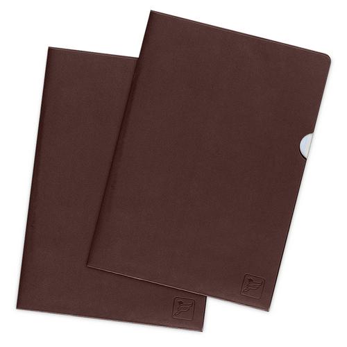 Папка-уголок, цвет коричневый