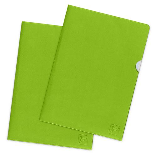 Папка-уголок, цвет зеленый