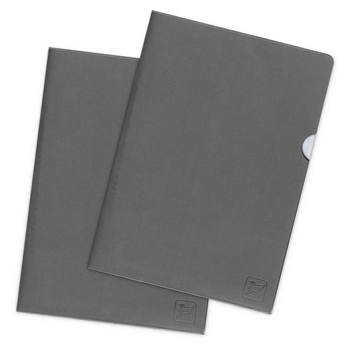 Папка-уголок, цвет серый
