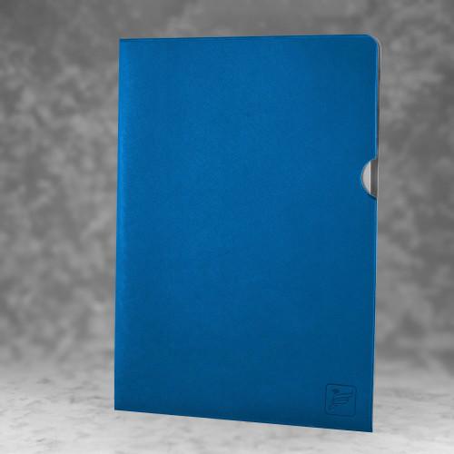 Папка-уголок, цвет синий