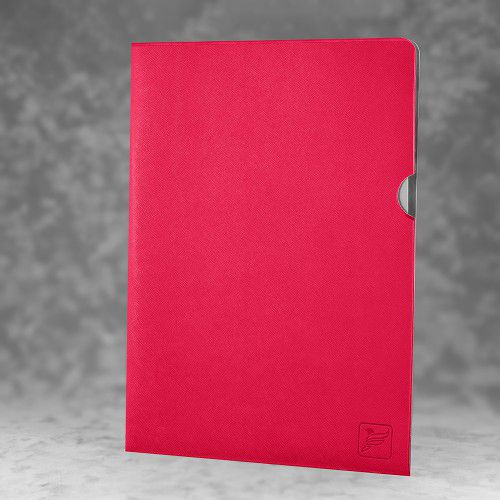 Папка-уголок, цвет маджента
