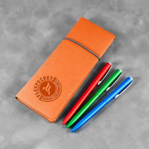 Пенал на резинке, цвет оранжевый