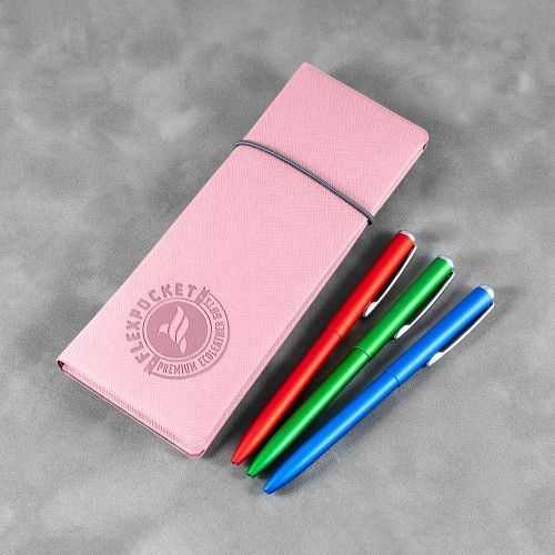Пенал на резинке, цвет розовый