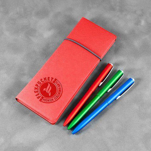 Пенал на резинке, цвет красный