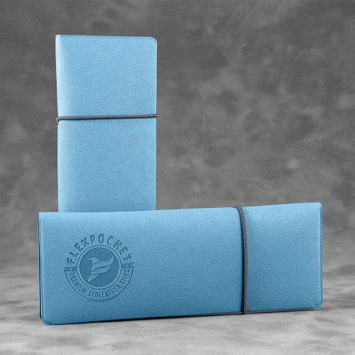 Пенал на резинке, цвет голубой
