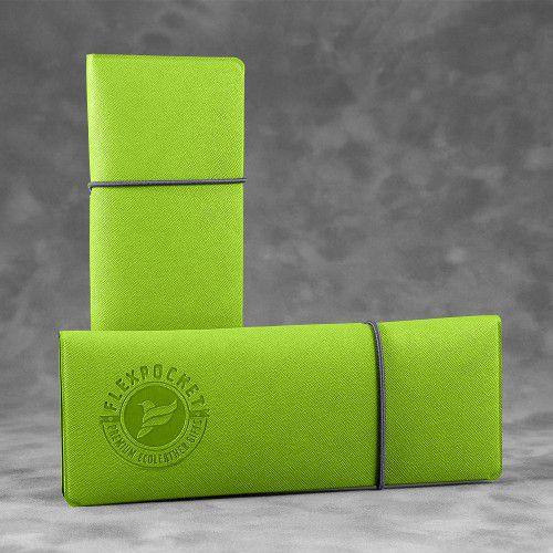 Пенал на резинке, цвет зеленый