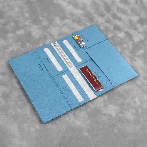 Органайзер для путешественника (семейный), цвет голубой
