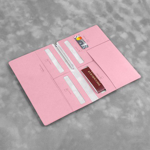 Органайзер для путешественника (семейный), цвет розовый