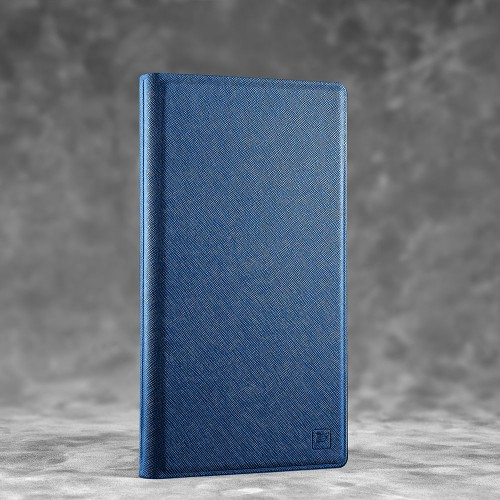 Визитница настольная, цвет темно-синий