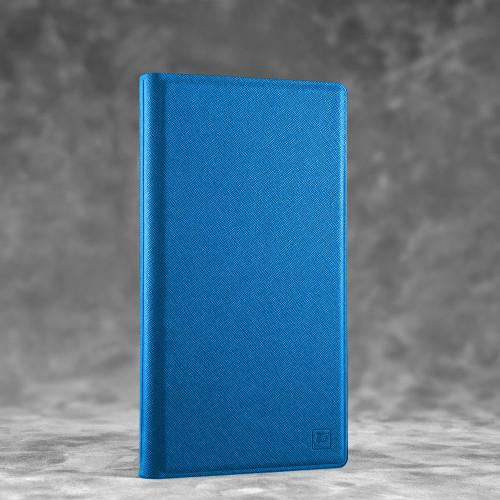 Визитница настольная, цвет синий