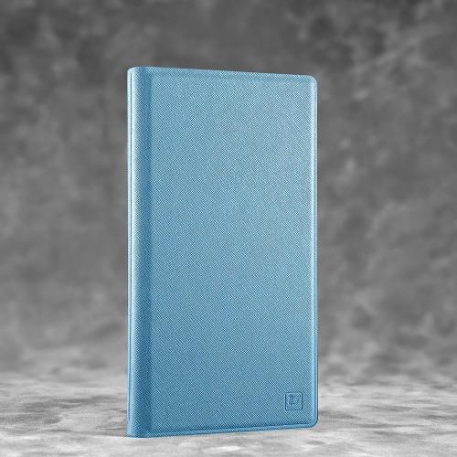 Визитница настольная, цвет голубой