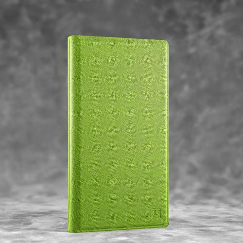 Визитница настольная, цвет зеленый
