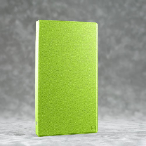Визитница настольная на кольцах, цвет зеленый