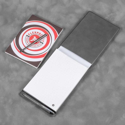 Блокнот B7 с ручкой, цвет серый classic