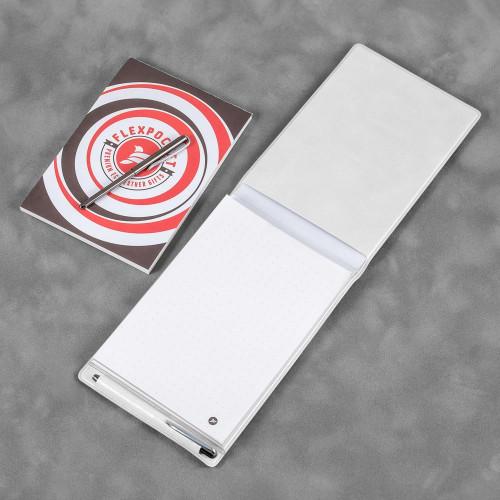Блокнот B7 с ручкой, цвет белый classic