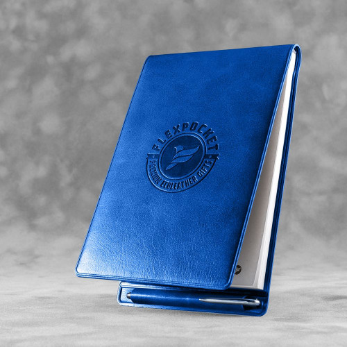 Блокнот B7 с ручкой, цвет синий classic