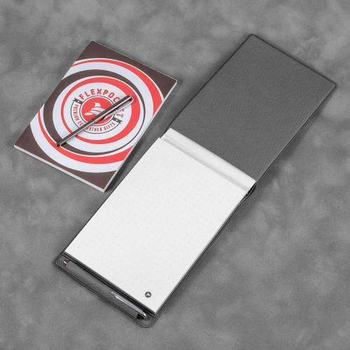 Блокнот B7 с ручкой, цвет серый