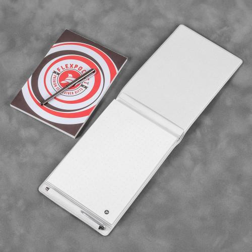Блокнот B7 с ручкой, цвет белый
