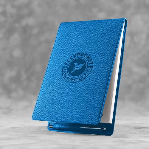 Блокнот B7 с ручкой, цвет синий