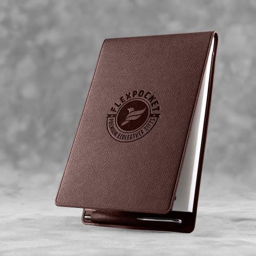 Блокнот B7 с ручкой, цвет коричневый