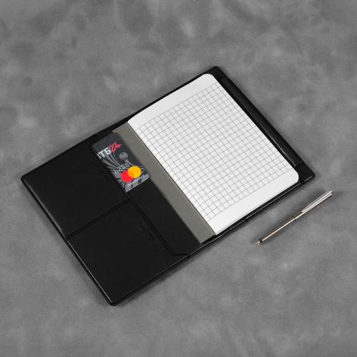 Записная книжка В7 с ручкой, цвет черный classic