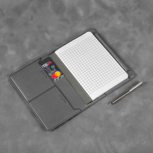 Записная книжка В7 с ручкой, цвет серый classic