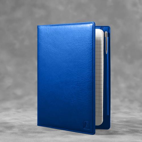 Записная книжка В7 с ручкой, цвет синий classic