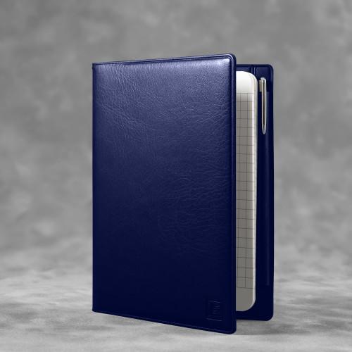 Записная книжка В7 с ручкой, цвет темно-синий classic