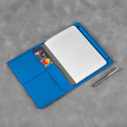 Записная книжка В7 с ручкой, цвет синий