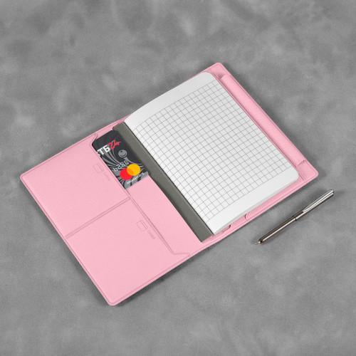 Записная книжка В7 с ручкой, цвет розовый