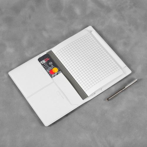 Записная книжка В7 с ручкой, цвет белый