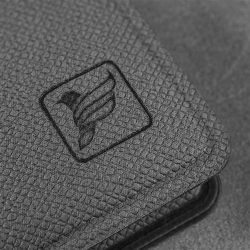 Записная книжка В7 с ручкой, цвет серый
