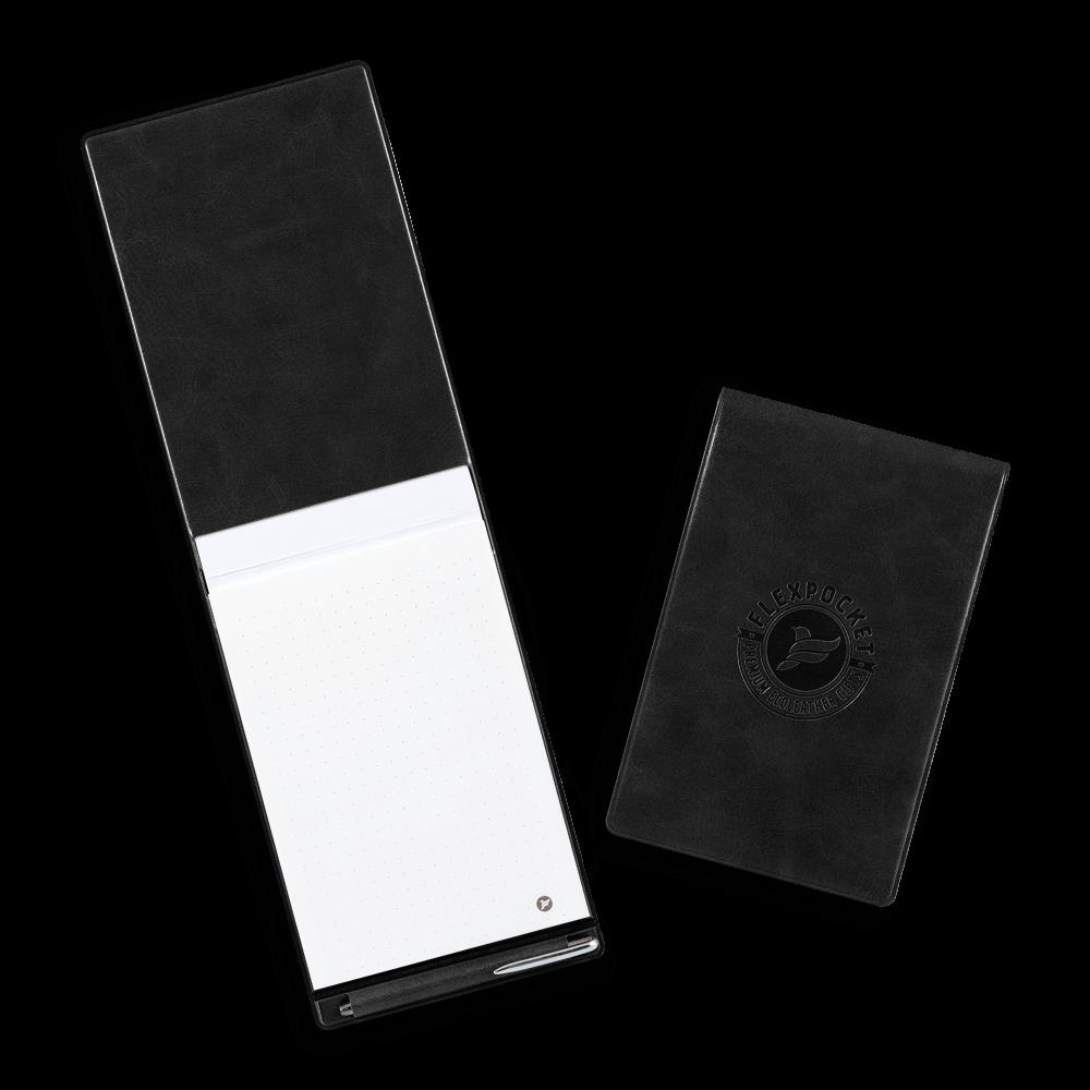 Блокнот B7 с ручкой, цвет черный classic