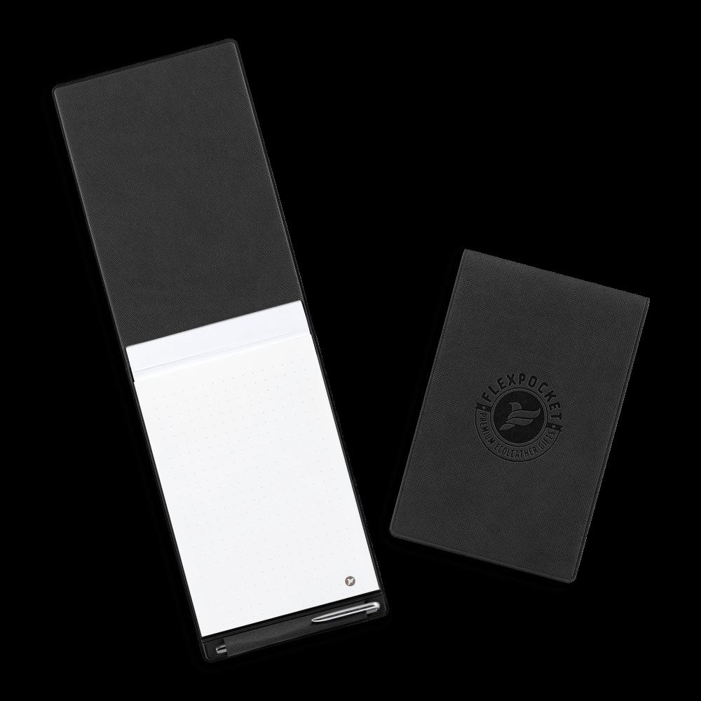Блокнот B7 с ручкой, цвет черный