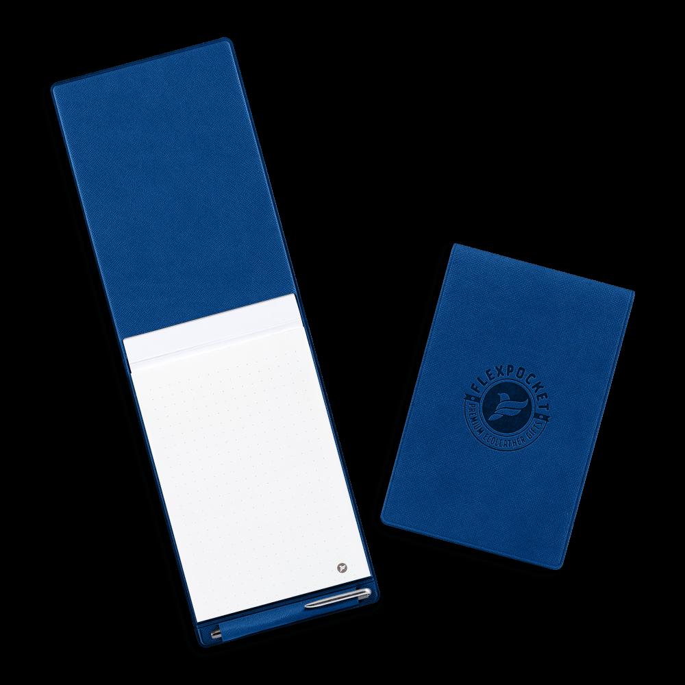 Блокнот B7 с ручкой, цвет темно-синий