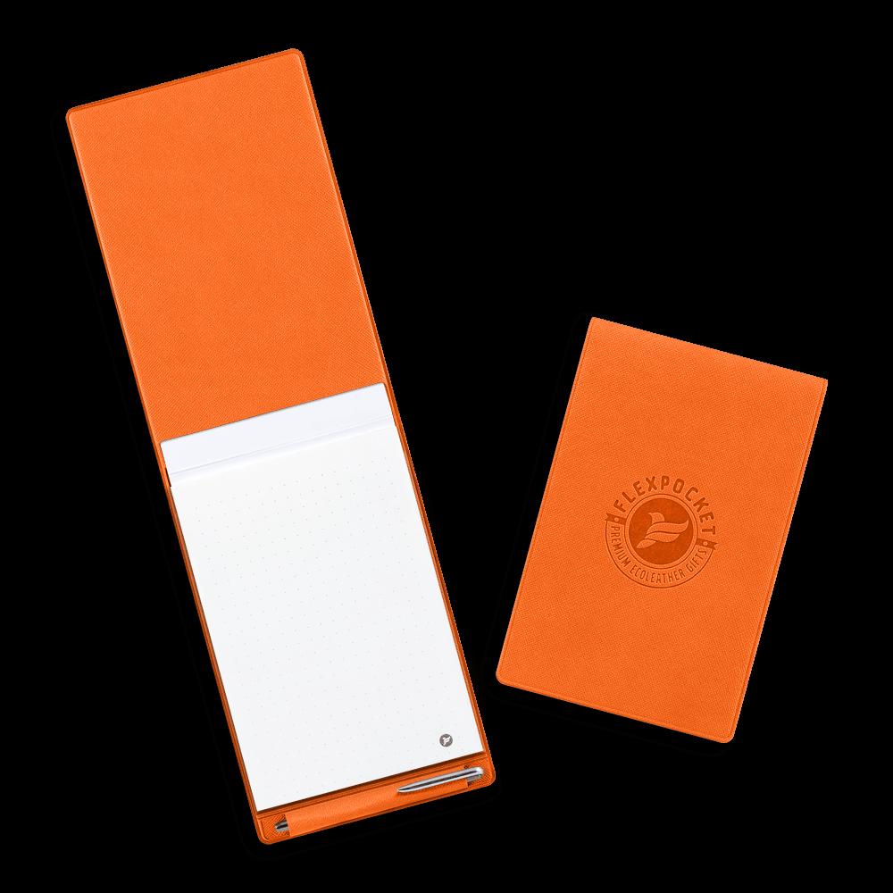 Блокнот B7 с ручкой, цвет оранжевый