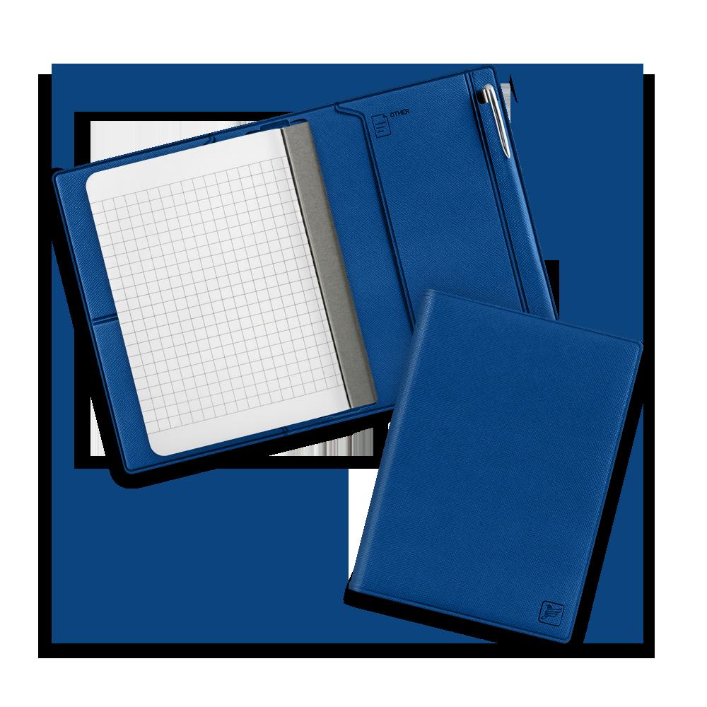 Записная книжка В7 с ручкой, цвет темно-синий