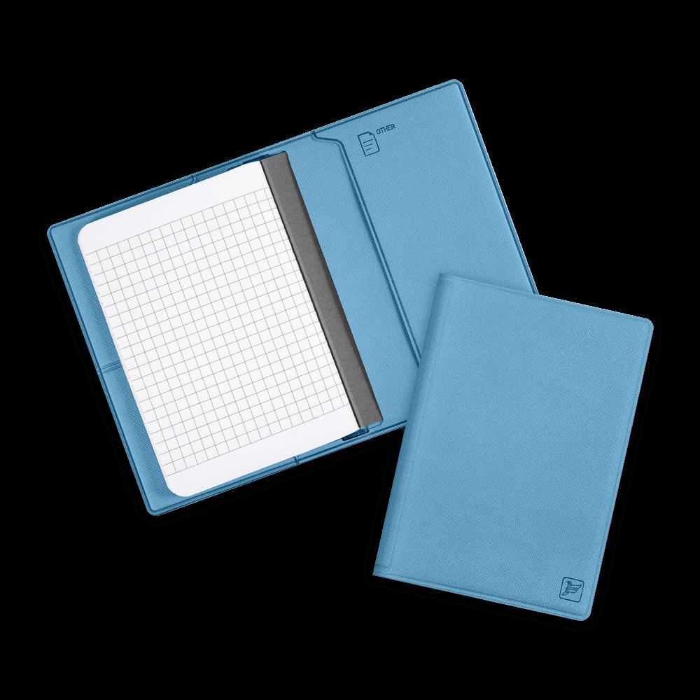 Записная книжка B7, цвет голубой